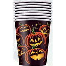 Vasos Calabazas Halloween 270 ml, Pack 8 u. - Ítem1