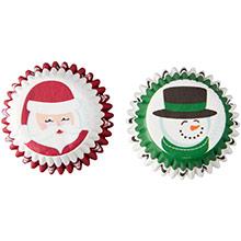 Cápsulas mini cupcakes Santa y Hombre de Nieve Wilton, Pack 100 u. - Ítem1