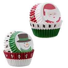 Cápsulas mini cupcakes Santa y Hombre de Nieve Wilton, Pack 100 u. - Ítem2