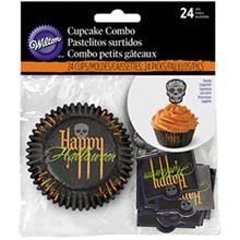 Decoración cupcakes Halloween, Pack 24 u. - Ítem2