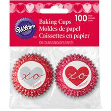 Cápsulas mini cupcakes corazones, Pack 100 u. - Ítem1