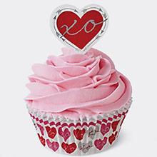 Cápsulas y decoración cupcakes corazones, Pack 48 u. - Ítem2
