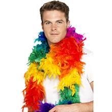Boa de plumas arco iris 80 gr - Ítem1