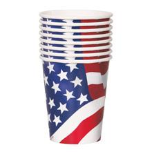 Vasos cartón encerado bandera USA - Ítem1