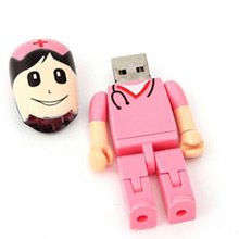 Memoria USB enfermera rosa 8GB - Ítem2