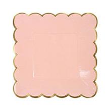 Platos colores con borde dorado 18,00 cm, Pack 8 u. - Ítem1