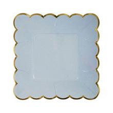 Platos colores con borde dorado 18,00 cm, Pack 8 u. - Ítem2