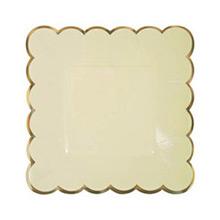 Platos colores con borde dorado 18,00 cm, Pack 8 u. - Ítem3
