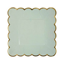Platos colores con borde dorado 18,00 cm, Pack 8 u. - Ítem4