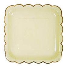 Platos colores con borde dorado 22,90 cm, Pack 8 u. - Ítem3
