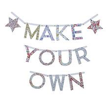 Guirnalda letras Liberty para personalizar, Pack 134 letras - Ítem1