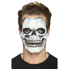 Careta esqueleto prótesis 2 piezas látex - Ítem3