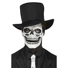Careta esqueleto prótesis 2 piezas látex - Ítem4