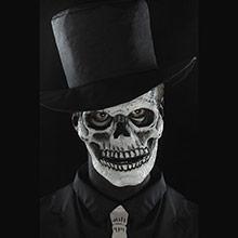 Careta esqueleto prótesis 2 piezas látex - Ítem5