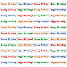 Rollo de cinta Happy Birthday - Ítem1