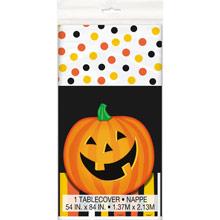 Mantel calabaza sonriente Halloween 213 x 137 cm plástico - Ítem1