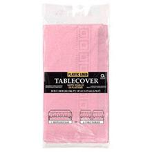 Mantel liso rosa 274 x 137 cm impermeable, Pack 1 u. - Ítem1