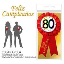 Escarapela 80 cumpleaños - Ítem1