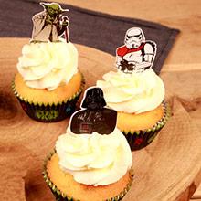 Cápsulas y decoración cupcakes Star Wars, Pack 24 u. - Ítem1