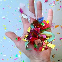 Lanzador de confeti y serpentinas 30 cm - Ítem1