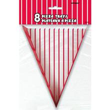 Triángulos para pizza de cartón, Pack 8 u. - Ítem1