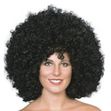 Peluca afro mega negra - Ítem1