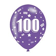 Globos de Látex 100 años colores surtidos. Pack 6 u. - Ítem4