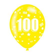 Globos de Látex 100 años colores surtidos. Pack 6 u. - Ítem5