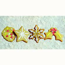 Cortadores galletas con formas navideñas con expulsor, Set 4 u. - Ítem1