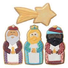 Cortadores galletas con forma Reyes Magos y estrella, Set 4 u. - Ítem1