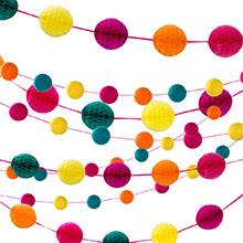 Guirnalda bolas de papel 5 colores - Ítem1