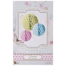 Pompones de papel colores pastel, Pack 3 u. - Ítem4