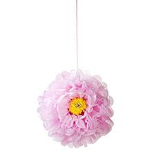 Pompones flores tonos pastel, 3 u diferentes medidas - Ítem1