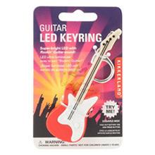 Llavero guitarra eléctrica blanca y roja - Ítem1