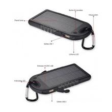 Cargador solar 500 mAh con linterna y mosquetón - Ítem3