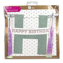 Guirnalda Happy Birthday iridiscente - Ítem1