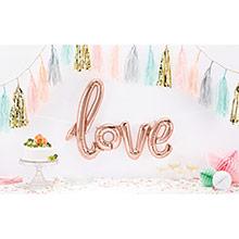 Globo frase Love tono rosa- bronce 73 x 53 cm - Ítem1