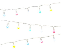 Guirnalda luces bombillas colores pastel - Ítem1