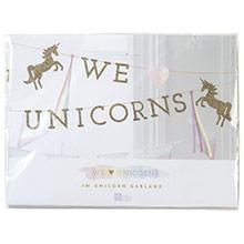 Guirnalda We Love Unicorns dorada - Ítem1