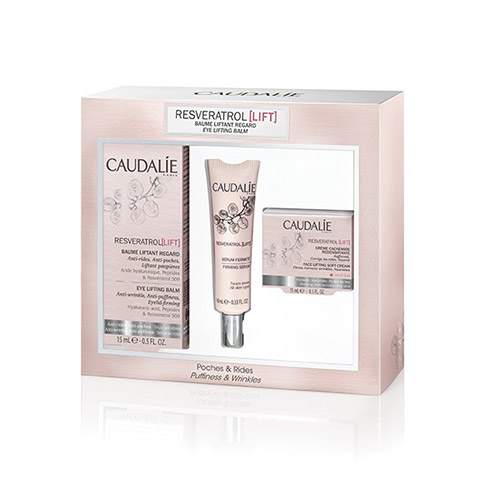 Caudalie Pack Resveratrol Lift Bálsamo Lifting Ojos + REGALO Resveratrol Lift Crema Cachemir + Sérum Firmeza