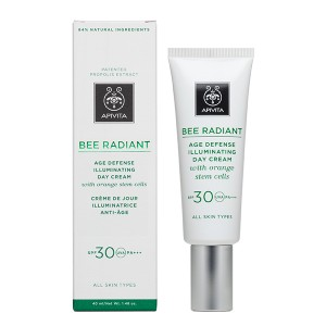 Apivita Bee Radiant Crema Día Iluminadora Defensa Antiedad SPF30, 40 ml