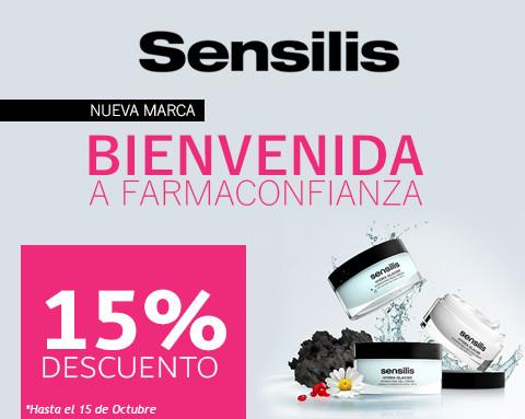 Bienvenida Sensilis 15% de descuento