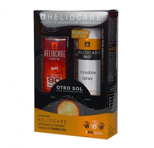 Heliocare Ultra Gel SPF90, 50 ml. + Heliocare 360º Spray Invisible SPF+50, 200ml