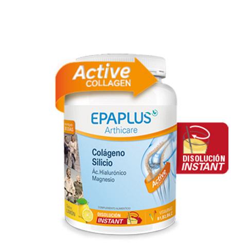 EPAPLUS Colágeno + Silicio (+ Hialurónico + Magnesio + Vitaminas) Sabor Limón, 326 g