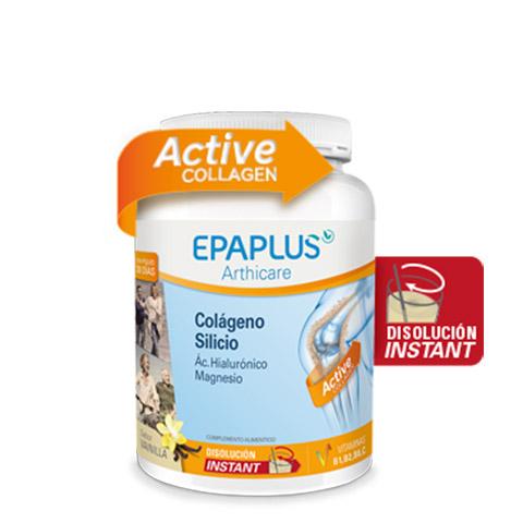 EPAPLUS Colágeno + Silicio (+ Hialurónico + Magnesio + Vitaminas) Sabor Vainilla, 325 g