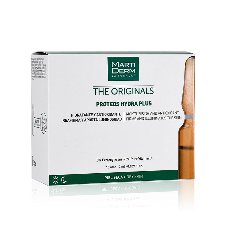 Martiderm Proteoglicanos Hidratante y Reafirmante Piel Seca, 10 ampollas.
