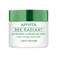 Apivita Bee Radiant Crema Iluminadora Antiedad Textura Ligera, 50 ml
