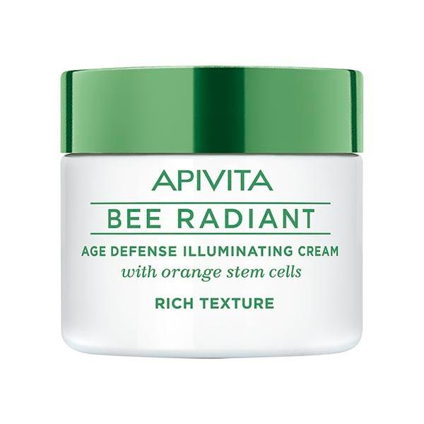 Apivita Bee Radiant Crema Iluminadora Antiedad Textura Rica, 50 ml