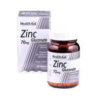 Health Aid Zinc Gluconato 70mg, 90 comprimidos. | Farmaconfianza