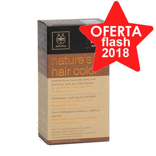 Apivita Tinte para el Cabello Nature's Hair Color sin PPD, color 7.0 Rubio